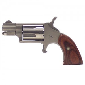 """North American Arms 22MAG .22 Long Rifle 5-Shot 1.12"""" Revolver in Stainless (Boot Style Grip) - 22LRGBG"""