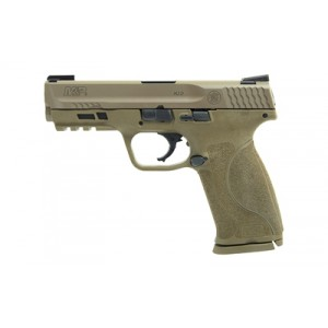 """Smith & Wesson M&p 2.0, Semi-automatic, Striker Fired, Full Size, 9mm, 4.25"""" Barrel, Polymer Frame, Flat Dark Earth Finish, 17rd, 2 Mags, Truglo Tfx Tritium/fiber-optic Day/night 11767"""