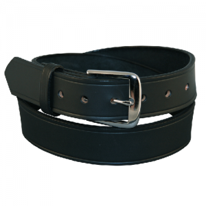 Boston Leather Off Duty Garrison Belt in Black Basket Weave - 52