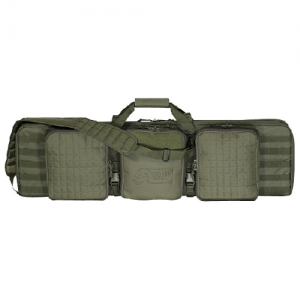 42  Deluxe Padded Weapon Case With 6 Black Locks Color: OD Green