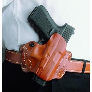 Desantis Gunhide Mini Slide Right-Hand Belt Holster for Glock 17, 19, 20, 21, 22, 23 in Black - 086BAE1Z0
