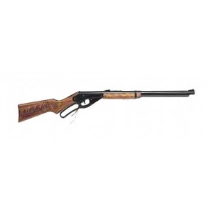 Daisy Model 1938 Red Ryder, .177 Bb, Black Wood Stock, Lever Action, Single Shot, 280 Feet Per Second 1938