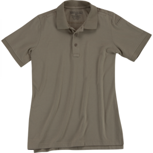 5.11 Tactical Tactical Women's Short Sleeve Polo in Silver Tan - Large