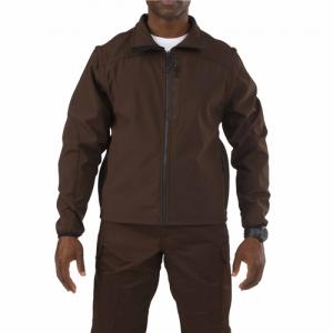 5.11 Tactical Valiant Softshell Men's Full Zip Jacket in Brown - 2X-Large