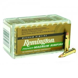 Remington 22 Winchester Magnum Rimfire 33 Grain VMax Boat Tail, 50 Round Box, PR22M1