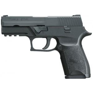 "Sig Sauer P250 Compact 9mm 15+1 3.9"" Pistol in Black Nitron (SIGLITE Night Sights) - 250C9BSS"