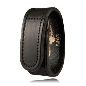 Boston Leather Wide Belt Keeper in Basket Weave - 5493-3