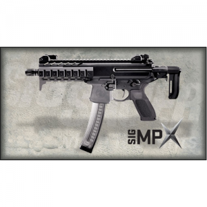 "Sig Sauer MPX 9mm 30-Round 8"" Semi-Auto Rifle in Black - MPX-9-T-KM-SBR"