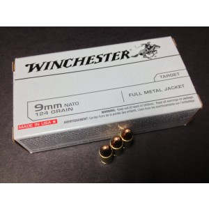 Winchester 9mm Full Metal Jacket, 124 Grain (50 Rounds) - Q4318