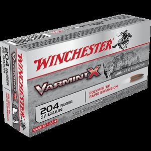 Winchester Super-X .204 Ruger Varmint, 32 Grain (20 Rounds) - X204P