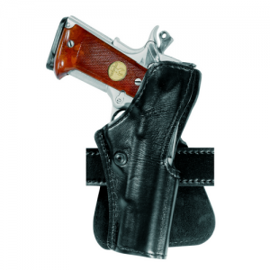 Safariland Model 5181 Right-Hand Paddle Holster for Kimber Kip45Cus in Plain Black Smooth Suede Lined/Safarilaminate - 5181-53-61