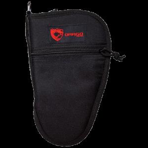 Drago Gear 12314BL Pistol Case 600D Polyester Zipper Mag Pouch Black
