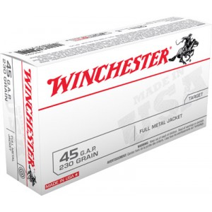 Winchester .45 Glock Full Metal Jacket, 230 Grain (50 Rounds) - USA45G
