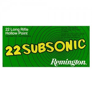 Remington Subsonic .22 Long Rifle Hollow Point, 38 Grain (50 Rounds) - SUB22HP