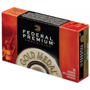 Federal Cartridge Gold Medal Target .338 Lapua Magnum Sierra MatchKing BTHP, 300 Grain (20 Rounds) - BM338LM2