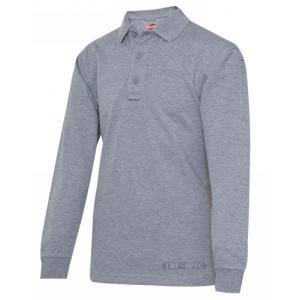 Tru Spec 24-7 Men's Long Sleeve Polo in Heather Grey - 2X-Large