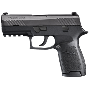 "Sig Sauer P320 Compact 9mm 15+1 3.9"" Pistol in Black Nitron (SIGLITE Night Sights) - 320C9BSS"
