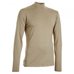 Under Armour Coldgear Infrared Men's Long Sleeve Compression Tee in Desert Sand - 2X-Large