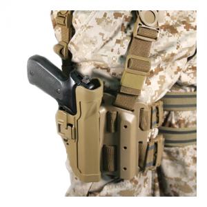 "Blackhawk Serpa Right-Hand Thigh Holster for Glock 20 in Matte Black (4"") - 430513BK-R"