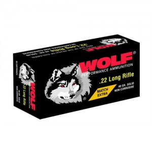 Wolf Performance Ammo .22 Long Rifle Round Nose, 40 Grain (5000 Rounds) - 22XTRA