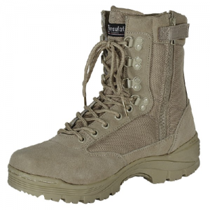9  Tactical Boots Color: Khaki Tan Size: 10 Wide
