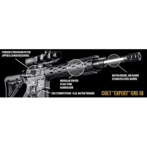 "Colt Expert CRE-18 .223 Remington/5.56 NATO 10-Round 18"" Semi-Automatic Rifle in Black - CRE-18EC"