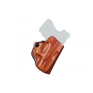 Desantis Gunhide 19 Mini Scabbard Right-Hand Belt Holster for Taurus 709 Slim in Black Leather - 019BAP8Z0