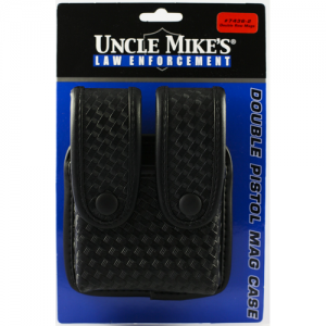 Uncle Mike's Fitted Pistol Magazine Case Magazine Pouch in Mirage Basketweave - 74362
