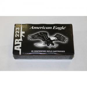 Federal Cartridge American Eagle .223 Remington Full Metal Jacket Boat Tail, 55 Grain (500 Rounds) - AE223CS