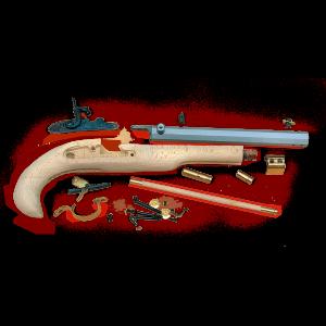 "Trad KP50602 Kentucky Pistol Kit Cap Lock 50 BlkPwdr 10"" Fxd Sights H-Wood Stk"