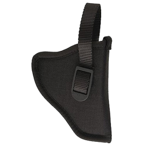 "Uncle Mike's Sidekick Left-Hand Belt Holster for Medium/Large Double Action Revolver in Black (3"" - 4"") - 81022"