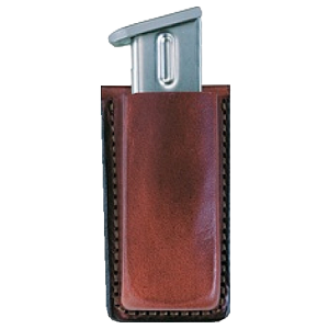 Bianchi Single Magazine Pouch Magazine Pouch in Tan Smooth Leather - 18055