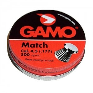 Gamo .177 Caliber Flat Nose Match Pellets/500 Count 632003454