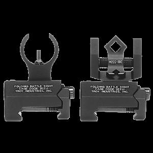 Troy SSIGNCNSTBT1 Battle Sight Micro M4 Front/DOA Rear Set AR-15 Blk