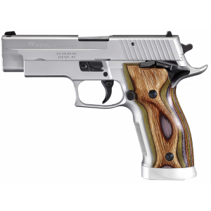 "Sig Sauer P226 X-Five Full Size Short & Smart 9mm 19+1 4.4"" Pistol in Stainless (Beechwood Laminate Grip) - 226X59SHORTS"