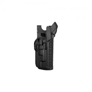 "Blackhawk Level 3 Serpa Light Bearing Right-Hand Belt Holster for Glock 20 in Black Basketweave (4.5"") - 44H513BW-R"