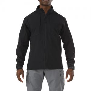 5.11 Tactical Sierra Softshell Men's Long Sleeve Shirt in Black - Large