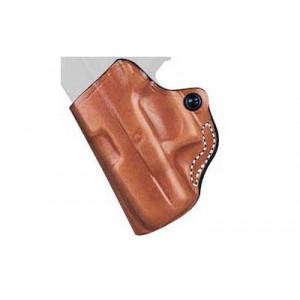 Desantis Gunhide 19 Mini Scabbard Left-Hand Belt Holster for Glock 43 in Tan Leather - 019TB8BZ0