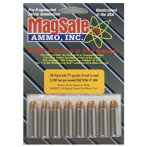 MagSafe Ammo SWAT .38 Special Pre-Fragmented Bullet, 37 Grain (10 Rounds) - 38W
