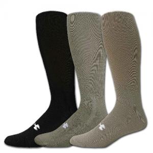 UA Men's HeatGear Boot Sock Color: Black Size: X-Large