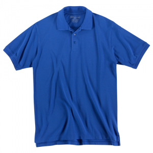5.11 Tactical Utility Men's Short Sleeve Polo in Academy Blue - Small