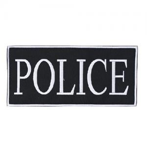 Law Enforcement Patches Color: White 2  x 4  Patch Logo: Police