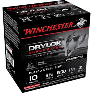 "Winchester Drylok Waterfowl .10 Gauge (3.5"") 2 Shot Steel (250-Rounds) - XSC102"