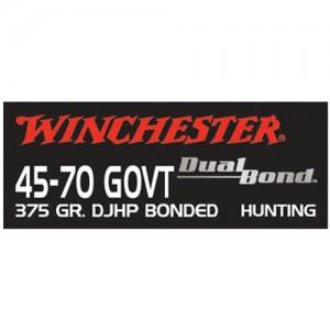 Winchester Supreme .45-70 Government Dual Bond, 375 Grain (20 Rounds) - S4570DB