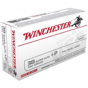 Winchester .38 Super Full Metal Jacket, 130 Grain (50 Rounds) - Q4205