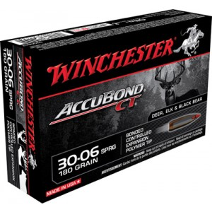 Winchester Supreme .30-06 Springfield AccuBond CT, 180 Grain (20 Rounds) - S3006CT