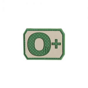 O+ POS Blood Type Patch