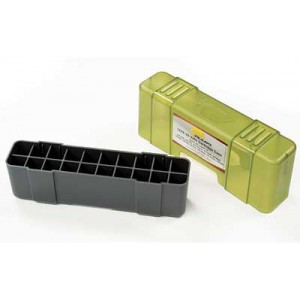 Plano Ammunition Box, Holds 20 Rounds Of .220/.243/.257/.270/.300/.308/.444 Rifle Rounds, Charcoal/green , 6 Pack 1229-20