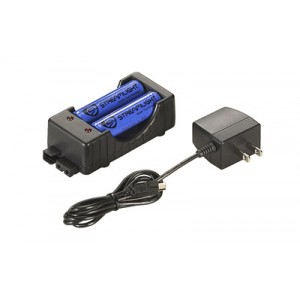Streamlight 18650 Charger, Flashlight, Charging Cradle W/ 18650 Lithium Ion Batteries, Black 22011