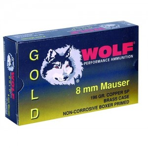Wolf Performance Ammo Gold 8mm Mauser Jacketed Soft Point, 196 Grain (20 Rounds) - G8X57SP1